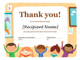 Thank You Certificate Template