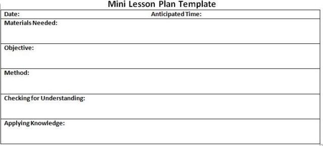 Lesson Plan Templates Free Download WORD EXCEL PDF - Lesson plan templates free