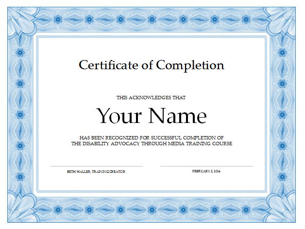 20 free certificate of completion template word excel pdf yelopaper Choice Image