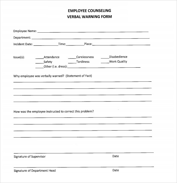 Employee warning notice download 56 free templates & forms.
