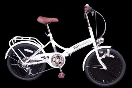 ラグジュリアス206折りたたみ自転車(色 白)【数量限定20台】