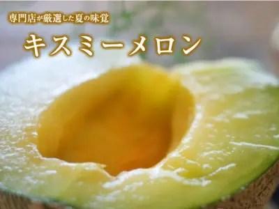 大玉キスミーメロン(青肉)2玉(約3kg) 4L~5L