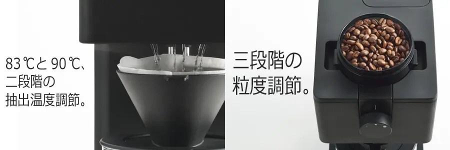 ツインバード全自動コーヒーメーカー返礼品 機能