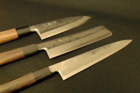 【日本三大刃物・土佐打ち刃物】包丁(墨流し)3点セット「出刃・柳刃・薄刃」