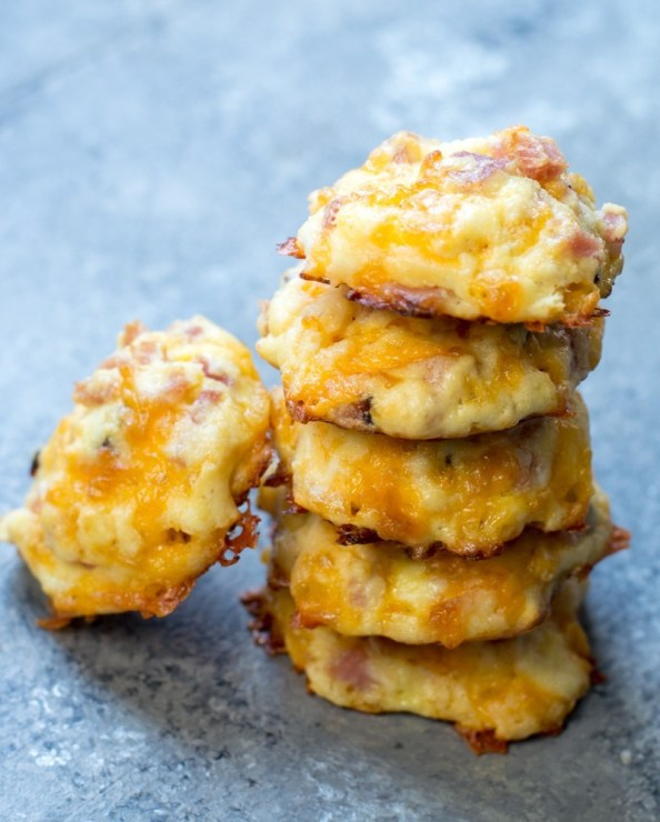 These Keto Ham and Cheese Bites are only 1.5 net carb and great warm or cold! This is an easy keto meal prep recipe!