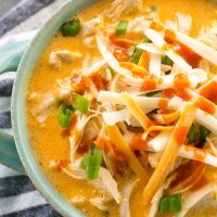 Instant Pot Buffalo Chicken Soup (keto + low carb)