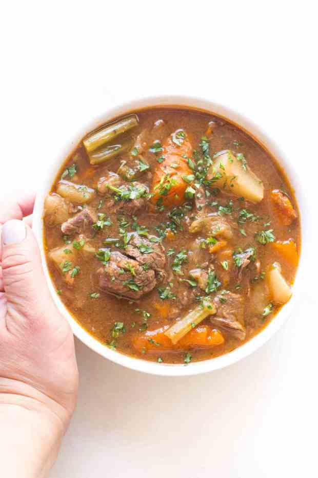 Easy Whole40 Keto Instant Pot Beef Stew
