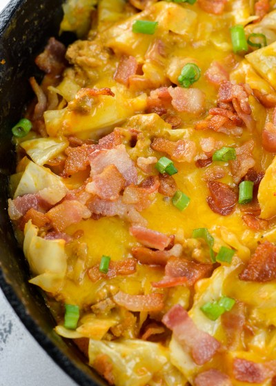 This Bacon Cheeseburger Cabbage Casserole is the perfect low carb and keto friendly casserole! This dish is backed with ground beef, crispy bacon, sharp cheddar cheese and tender cabbage! At just 5 net carbs per serving this is the perfect keto comfort food!