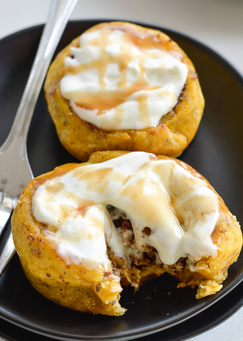 These amazing Keto Pumpkin Cinnamon Rolls are bursting with flavor and contain about 2 net carbs each! These warm, pumpkin and cinnamon spiced rolls are topped with a maple cream cheese frosting you will love!