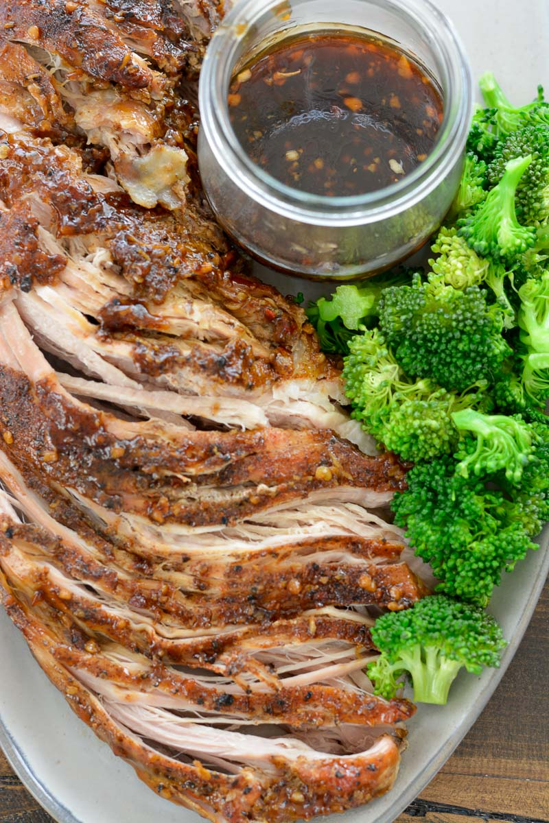 Slow Cooker Ginger Garlic Pork Tenderloin is an effortless Asian dish that is the perfect combination of sweet and savory!