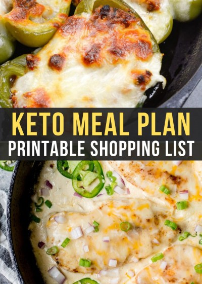 Week 10 of our Easy Keto Meal Plan includes delicious low-carb recipes like stuffed peppers and cheesy jalapeno chicken!