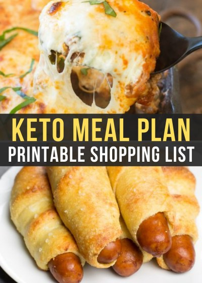 Week 11 of the Easy Keto Meal Plan includes amazing low-carb meals like keto pigs in a blanket and a keto lasagna skillet!