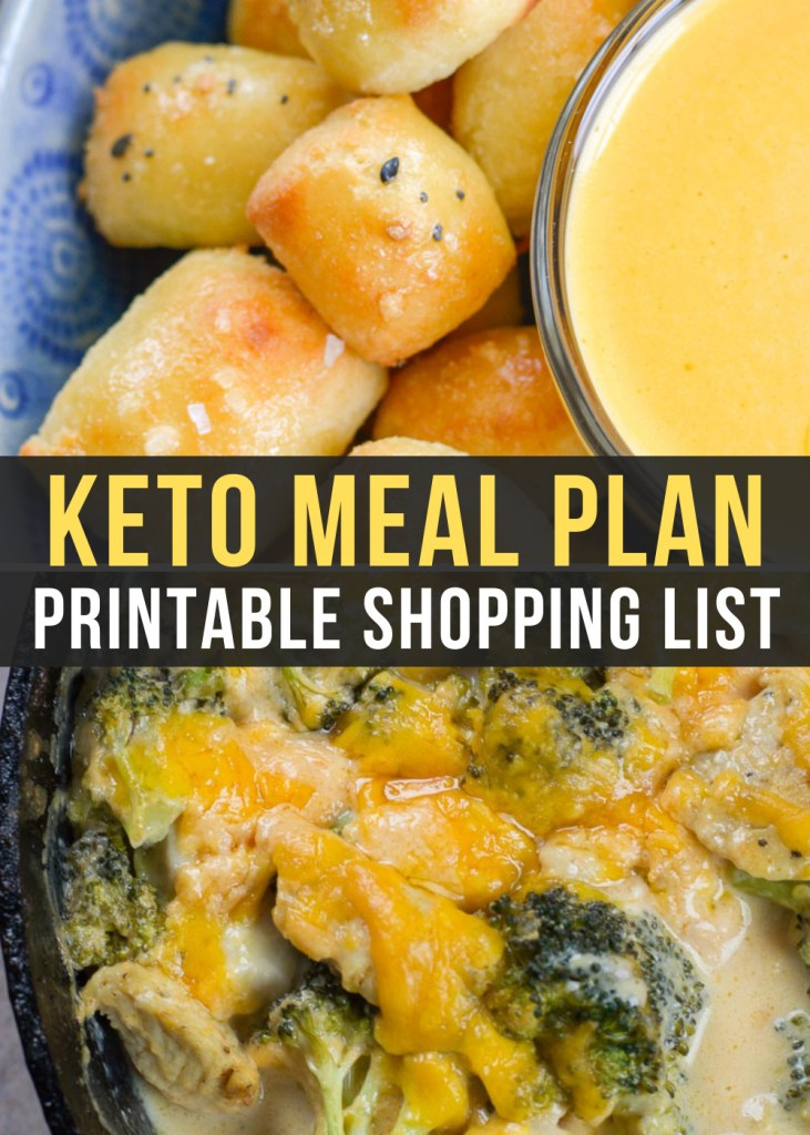 Week 18 of Easy Keto Meal Plan includes 5 easy keto meals plus a low-carb snack! This guide is complete with net carb counts, serving amounts, and a printable shopping list.