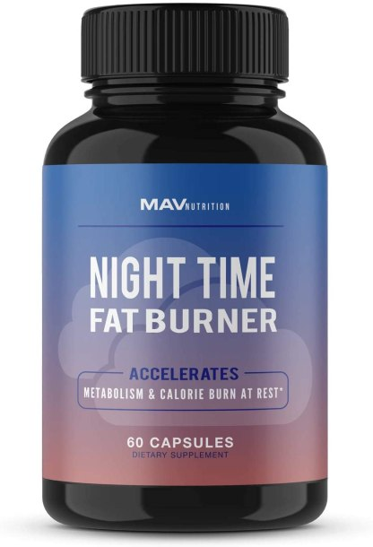 Weight Loss Pills Fat Burner for Night Time as Appetite Suppressant and Metabolism Boost