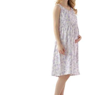 Women's Maternity Dress, All Cotton Nursing Dress for Pregnancy Breastfeeding Nightgowns