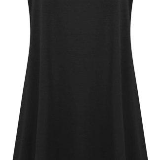 7th Element Plus Size Women's Casual Spaghetti Loose Swing Slip Dress
