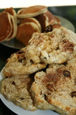 Cinnamon Date Scones & Pancakes