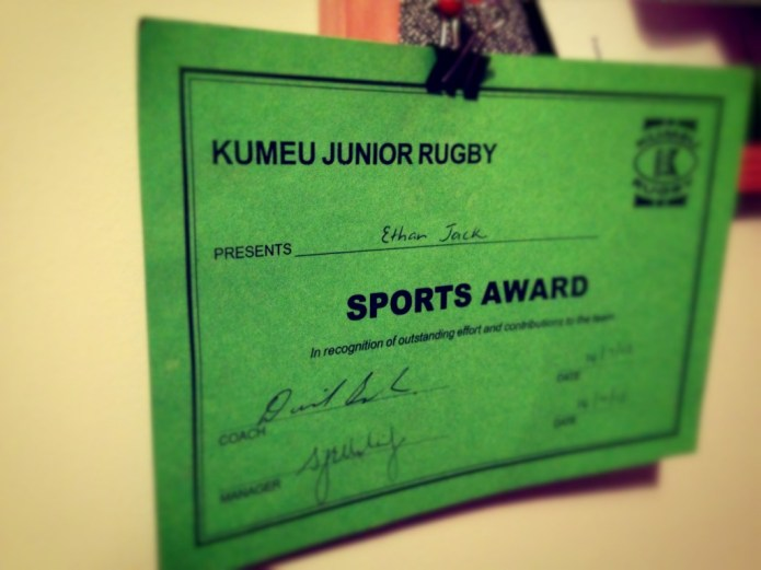 Sports Award for Rugby