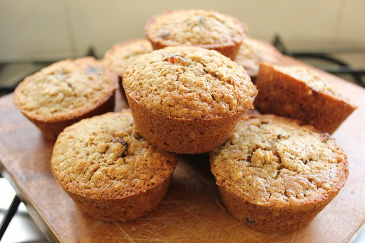 Oat, Date and Cranberry Muffins