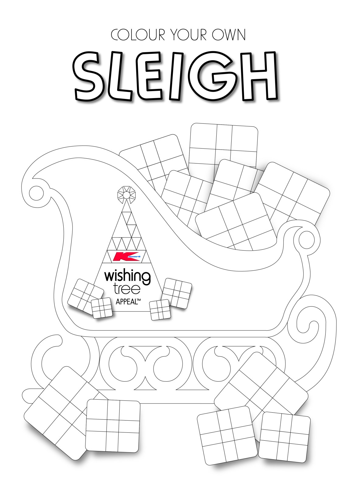 5625_Kmart Wishing Tree 2014_Colour In Sleigh