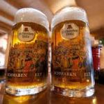 Octoberfest glass beer mugs--Full!