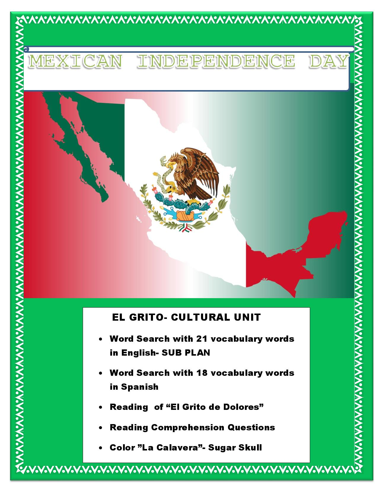 Misc Lesson El Grito Mexican Independence Reading
