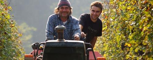 Roagnas in their vineyard