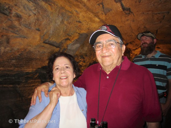 In the elevator tunnel at Chimney Rock!