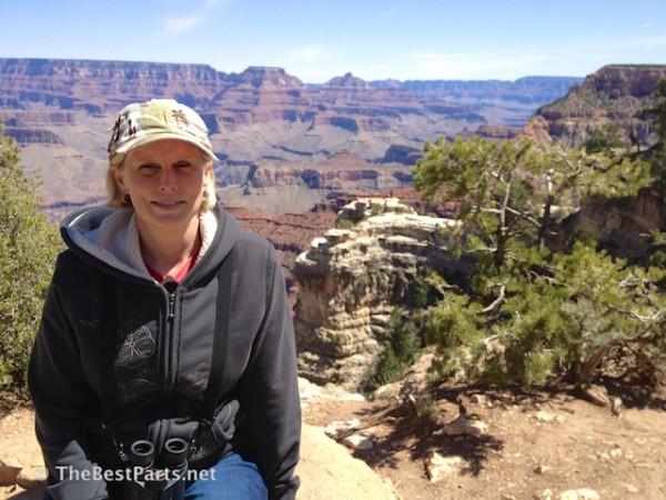 Gail at the Grand Canyon