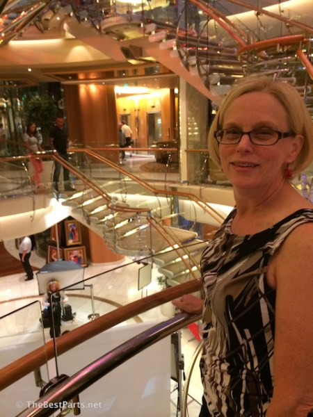 Freedom of the Seas Gail aft stairs