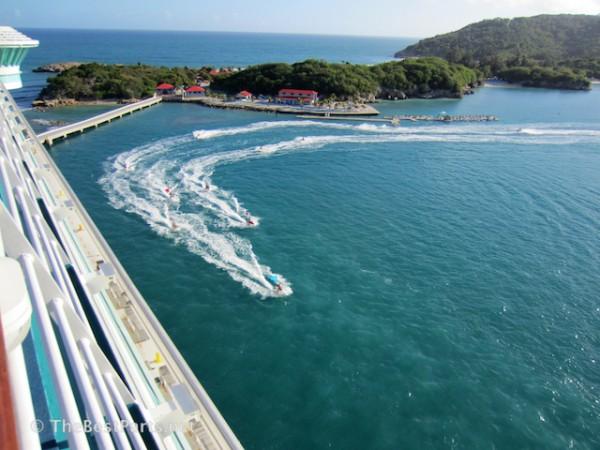 Labadee jet ski parade