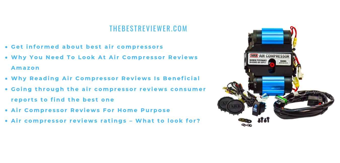 Get informed about best air compressors