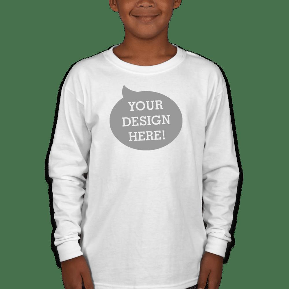 Gildan Heavy Cotton Youth Long Sleeve T Shirt 5400B Unique Christmas