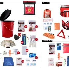 4 Person 72 Hours Elite Survival Kit Family Preparedness Package