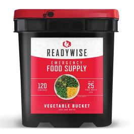 Ready Wise 120 Serving Freeze Dried Vegetables Bucket