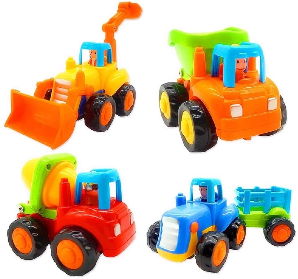 Friction Powered Cars and Push and Go Toy Trucks for 2 year old