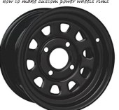 how to make custom power wheels rims