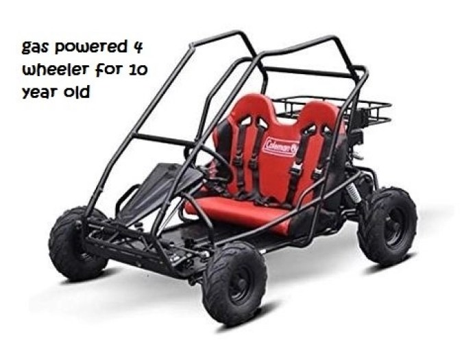 gas powered 4 wheeler for 10 year old