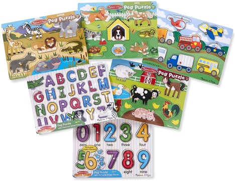 melissa and doug peg puzzle for 2 year old