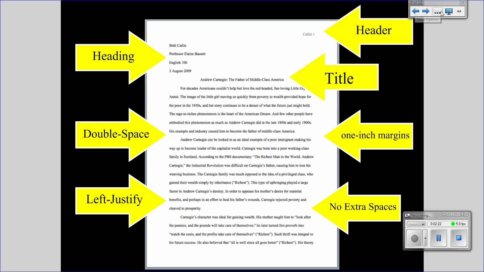 Research paper helper layout format
