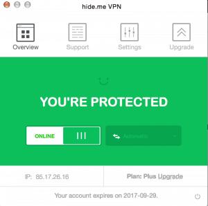 Hide.me VPN windows app
