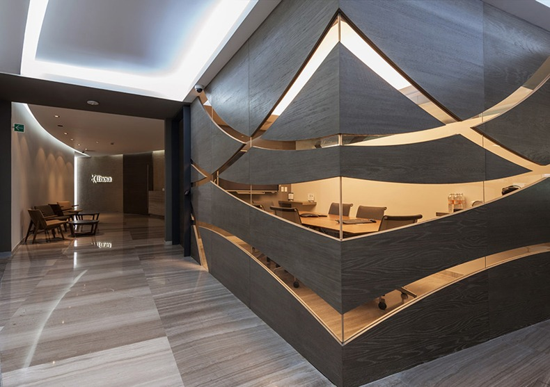 Meeting Room Decorative Wood Glass Walls