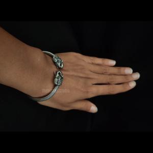 Spiral Elephant Silver Look Alike Bracelet
