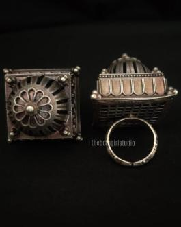 House Silver Look Alike Ring