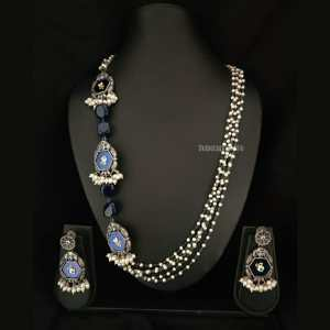 Silver Look Alike Pearl Necklace