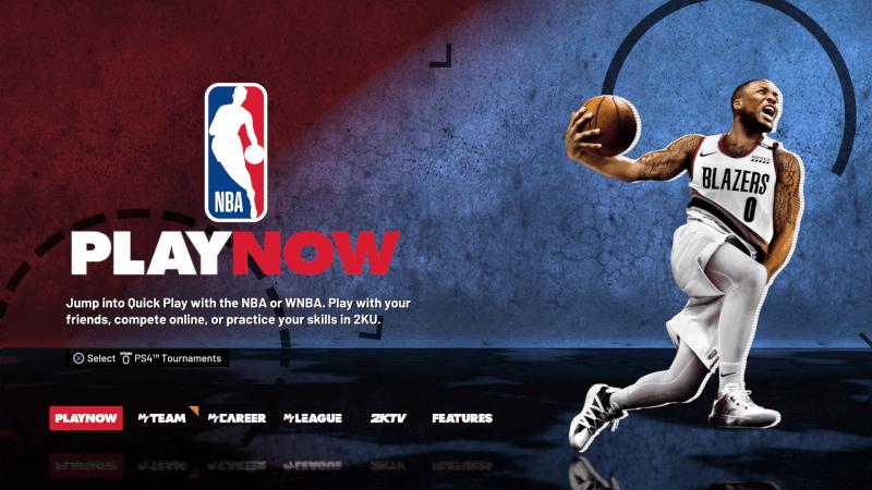 NBA 2K21 Game Main Hub