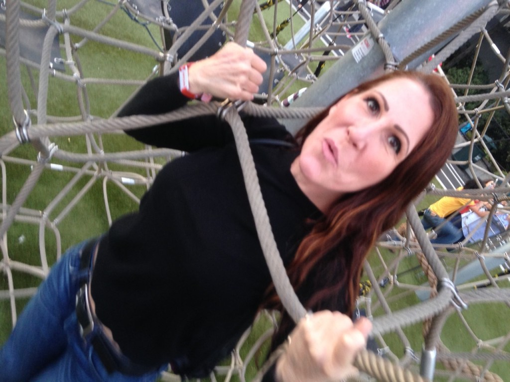 Just your typical INTJ introvert climbing an adult jungle gym.