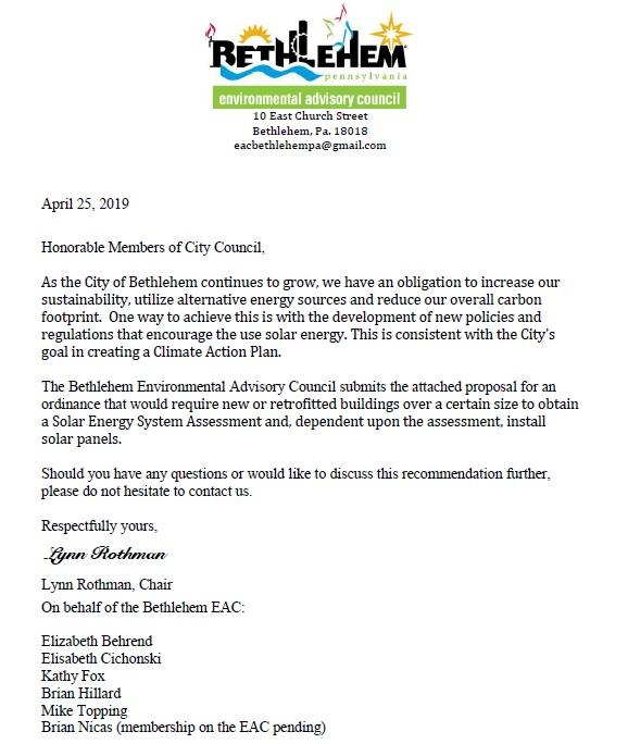 EAC Solar proposal