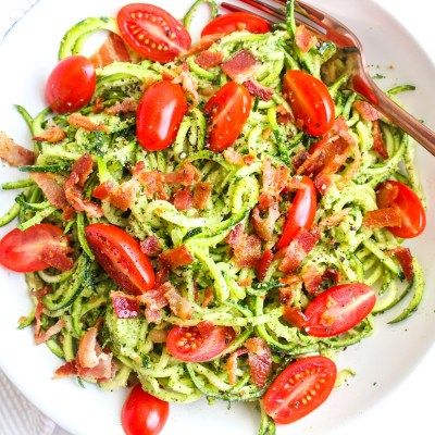 BLT Zoodle Salad – Paleo, Keto & Whole30