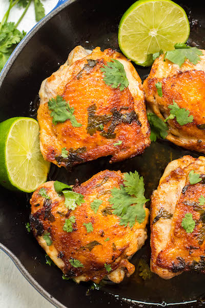 Crispy Cilantro Lime Chicken Thighs
